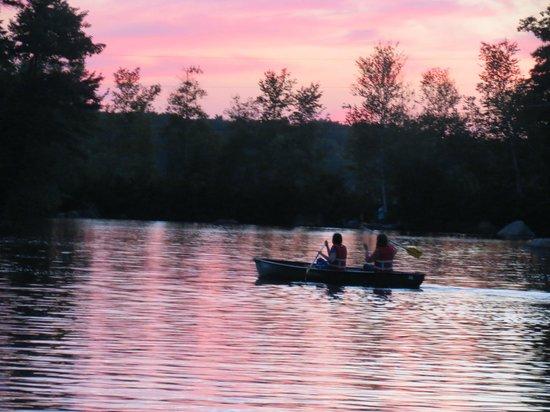 Barrington Shores Campground: Sunset over Barrington Shores
