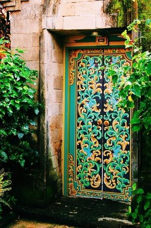 The Royal Beach Seminyak Bali - MGallery Collection: the ornate door to our Villa