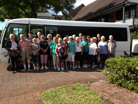 Montville Mountain Inn Resort: Group outside Montville Mountain Inn