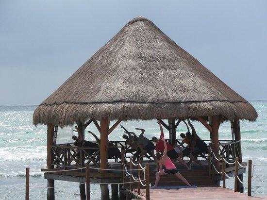 Secrets Silversands Riviera Cancun: Yoga every morning at 9:30AM.