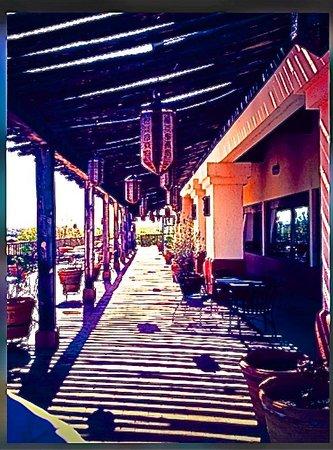 Esplendor Resort at Rio Rico: Terrace off the restaurant where we ate lunch