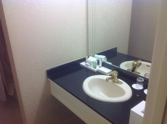 Monte Carlo Resort & Casino: small sink area. good for guys, bad for women