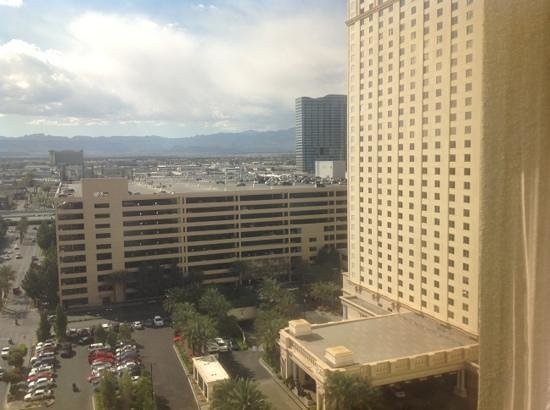 Monte Carlo Resort & Casino: view from 15th floor. #36 unit. odds are strip view, even are city