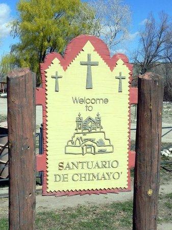 El Santuario de Chimayo: Sign
