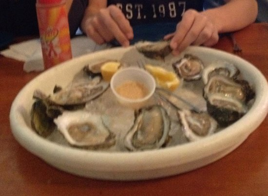 Bimini's Oyster Bar and Seafood Cafe: Raw Oysters. $6.50 per dozen during Happy Hours