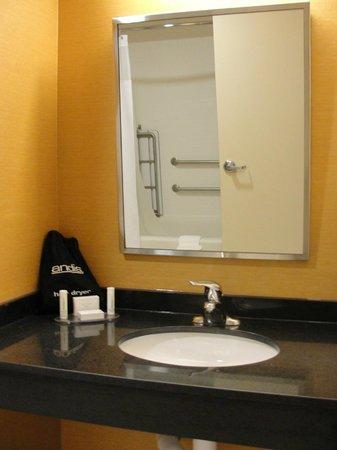 Fairfield Inn & Suites Tulsa Downtown: Banheiro adaptado para cadeirantes