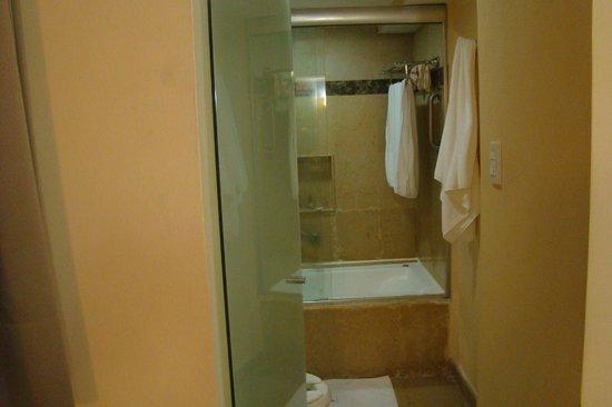 Eurostars Zona Rosa Suites: Banheira e vaso sanitário