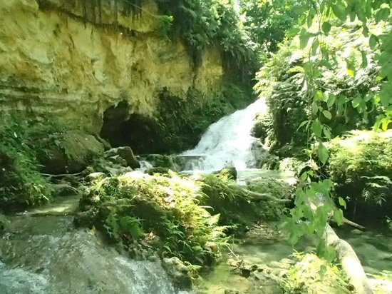 Island Gully Falls - Blue Hole: Part of the falls