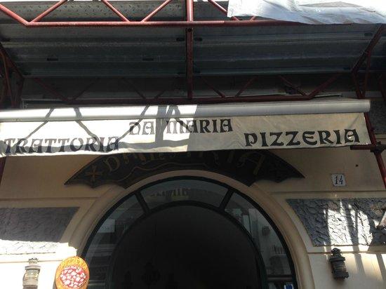 Da Maria Trattoria Pizzeria: Outside sign