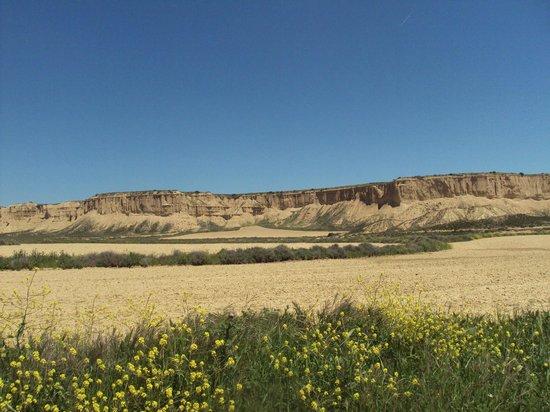 Parque Natural Bardenas Reales de Navarra: Formaciones caracterizadas por su gran erosión.