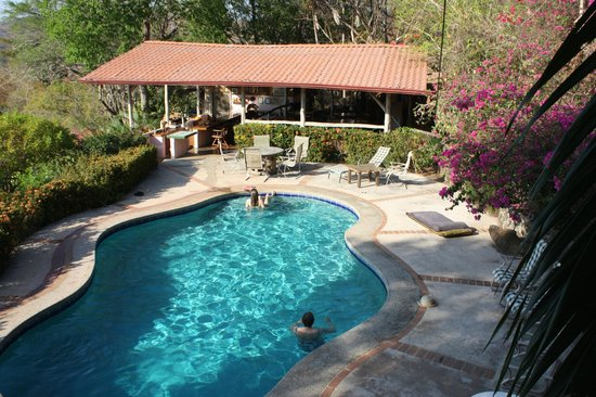 Rancho Armadillo Estate: View of pool area from upper floor of pool/ lookout building