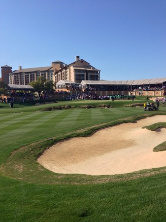 JW Marriott San Antonio Hill Country Resort & Spa: View of the hotel looking up the 18 th hole.