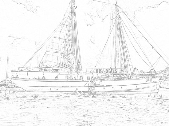 Passaat Classic Schooner: Drawing picture of the Passat