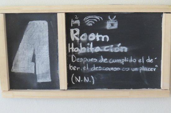 We Are Patagonia B&B: este detalle es el numero de habitacion
