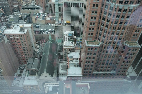 Hyatt Centric Times Square New York: View from room facing straight down