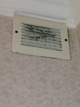 Ambassador Inn and Suites: vents in room