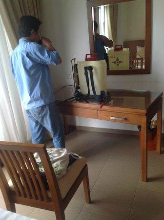 Unique Mui Ne Resort : pesticide man