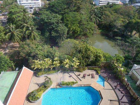 Phuket Merlin Hotel: the pool/swamp view