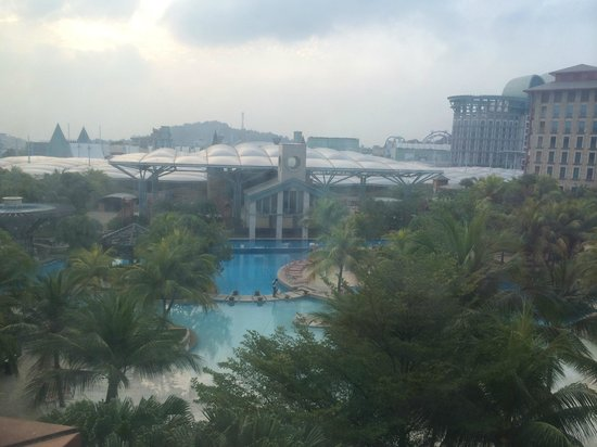 Hard Rock Hotel Singapore: View from room overlooking Pools