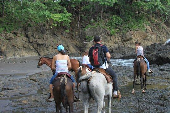 Hotel Guanamar: Beginning of horseback ride