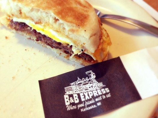 Breakfast & Burgers: The Railroad breakfast sandwich - delicious!