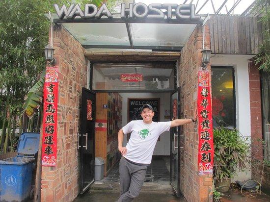 Wada Hostel: At the door.