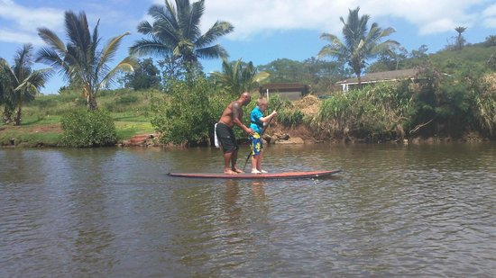 Sea and Board Sports Hawaii: Steve and my 9 year old took turns