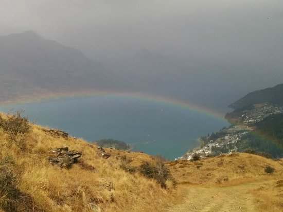 Rainbow at the Queenstown Hill Walk