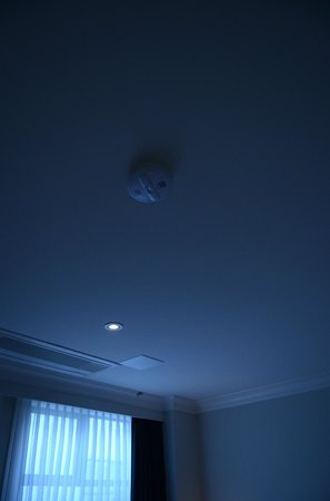 Hotel Rialto: The one small light in the ceiling in our room