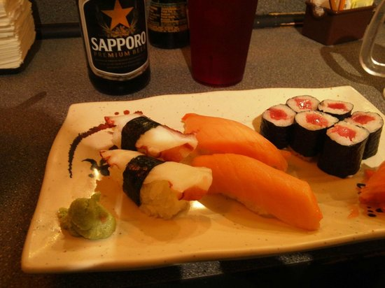 Fuji Japanese Steakhouse: Octopus, Smoked Salmon, and Tuna Roll