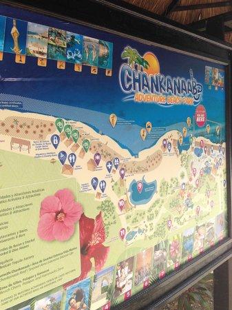 Chankanaab Beach Adventure Park: Park Map