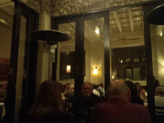 Catalan Mediterranean Restaurant: Interior from patio