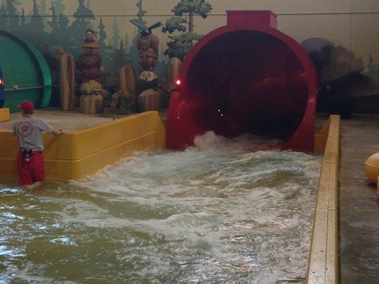 Great Wolf Lodge Grapevine: Exit of tornado ride