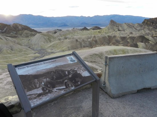 Zabriskie Point, the view toward the valley