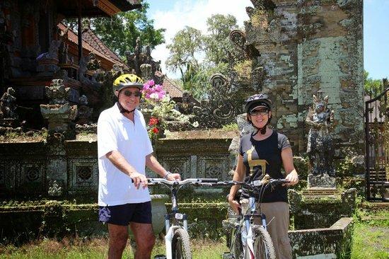 Bali Hai Bike Tours: Outside Temple on Bali Hai Bike Ride