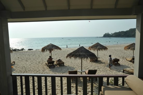 The Surin Phuket: Our room overlooking a small section of the bay.