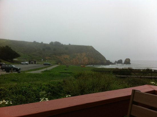 Holiday Inn Express Hotel & Suites Pacifica : view from seating area outside of breakfast area