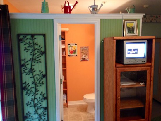 Ibis Bed & Breakfast: Private bathroom in the Garden Room.