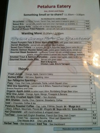 Petalura: Lunch and drinks menu