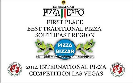 Pizza Bizzar : first place best traditional pizza southeast, ranked top 5 international best traditional pizzas