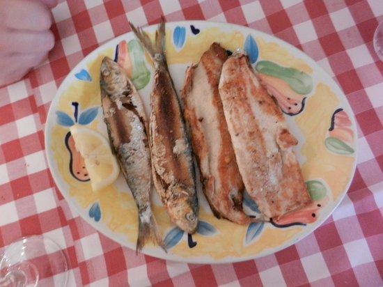 Locanda Grifo: grigliata mista di pesce di lago