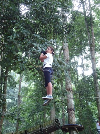 Bali Treetop Adventure Park: Lots of skills required
