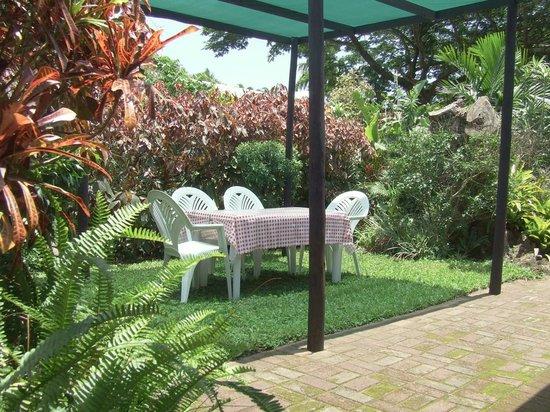 St. Lucia Wilds: No.1 Garden area with garden furniture