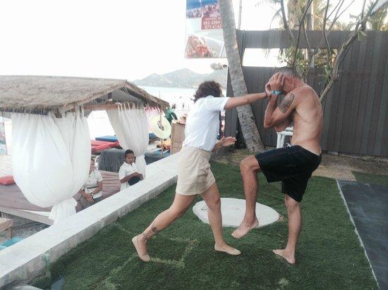 KC Beach Club and Pool Villas : muay thai remake