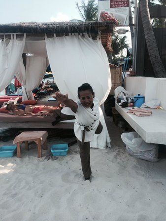 KC Beach Club and Pool Villas: Nik, the best masseur on the island!