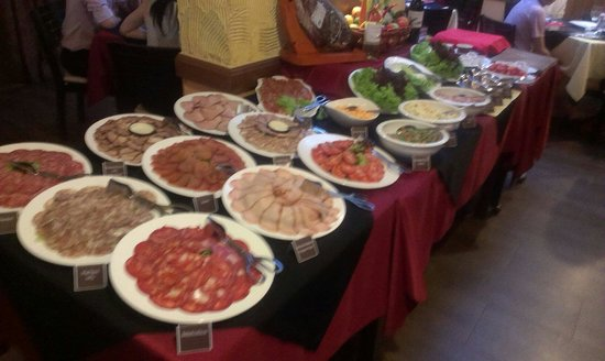 Cold buffet at el cerdo - it was as good as it looks!