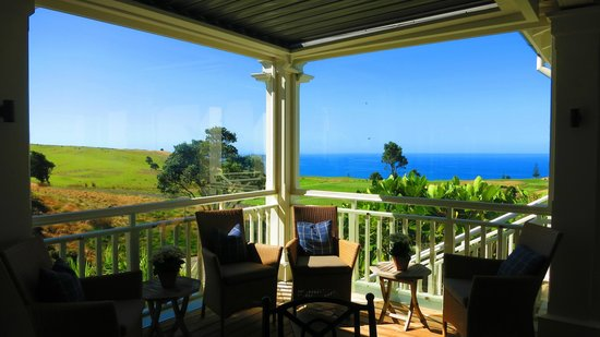 The Lodge at Kauri Cliffs: A room with a view - sheltered porch