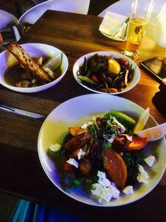 Tashas: Butternut salad & Lemon Chicken Breasts with Roast Vegetables