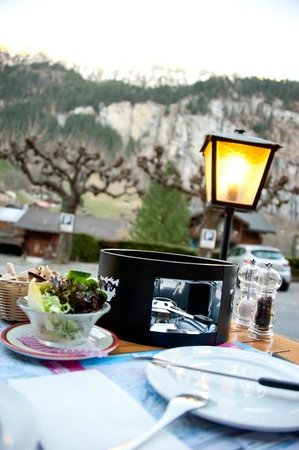 Hotel Oberland: View from our outdoor dining table