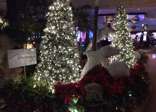 The Mirage Hotel & Casino: Just a taste of the amazing display during Christmas 2013